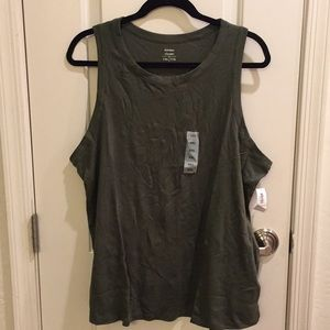 NWT Olive Green Muscle Tank
